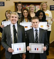 The Sixth Formers who took part in the MFL debate competition
